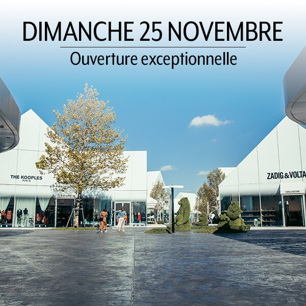 Exceptional opening Sunday 25 November