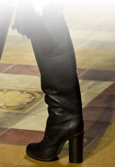 bottes cuir tendance