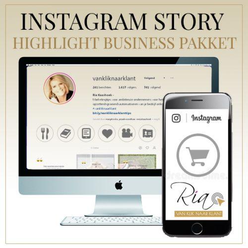 Instagram Story Highlight Business Pakket