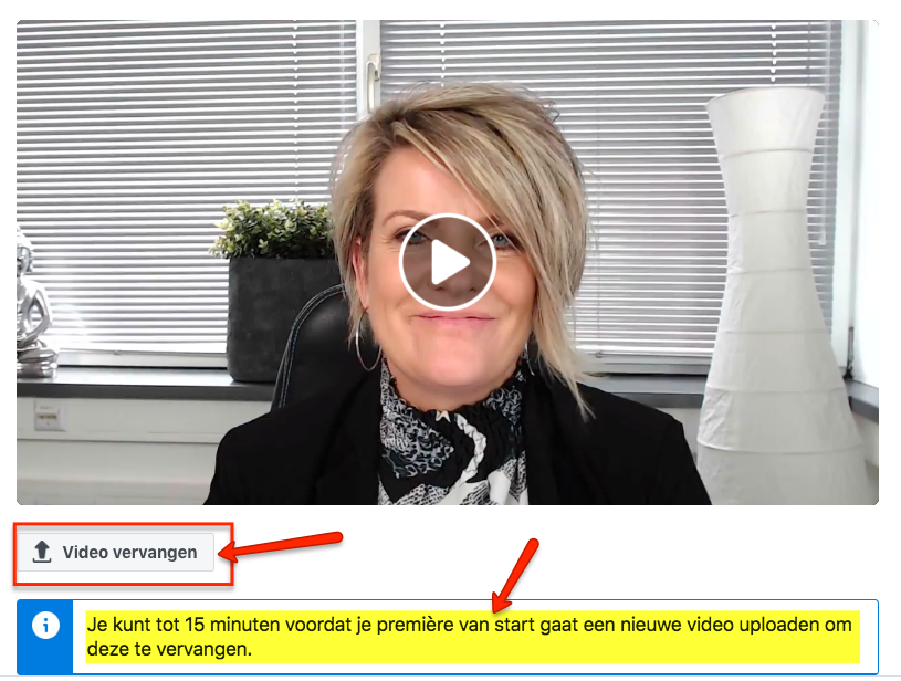 Facebook Premiere video wijzigen