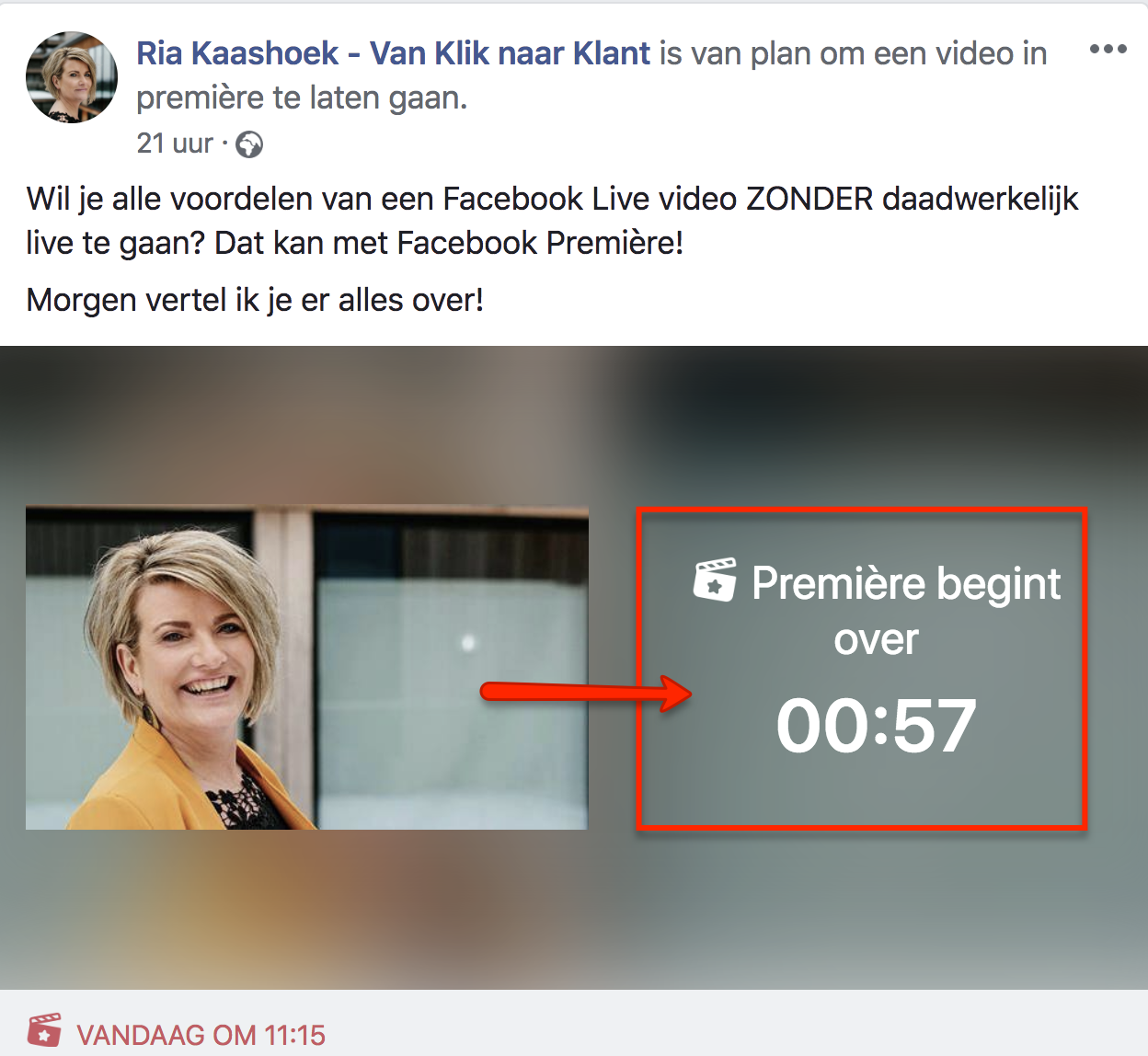 Facebook Première CountDown Timer