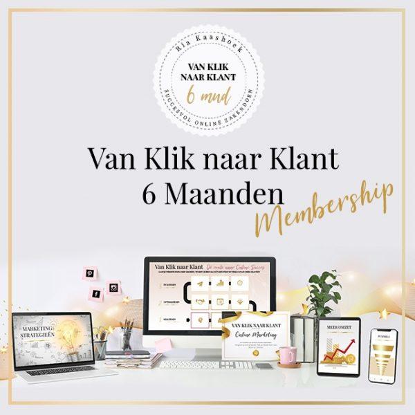 Van Klik naar Klant - Online Marketing Membership (half jaar)
