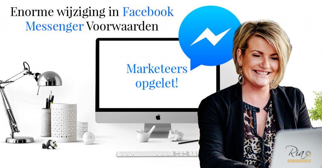 Enorme wijzigign in Facebook Messenger Voorwaarden
