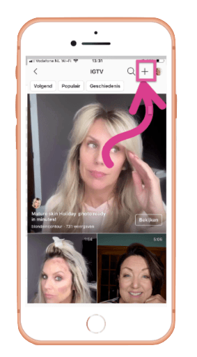 IGTV video uploaden vanaf smartphone