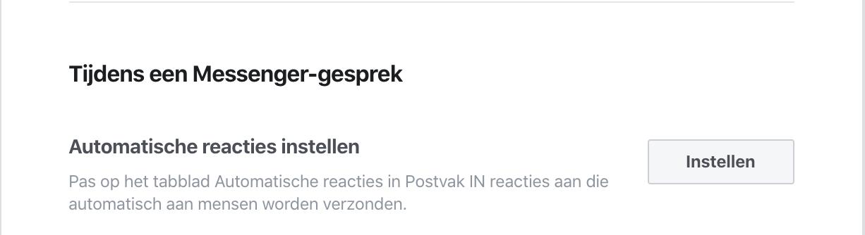 Facebook Messenger Automatische Reactie instellen