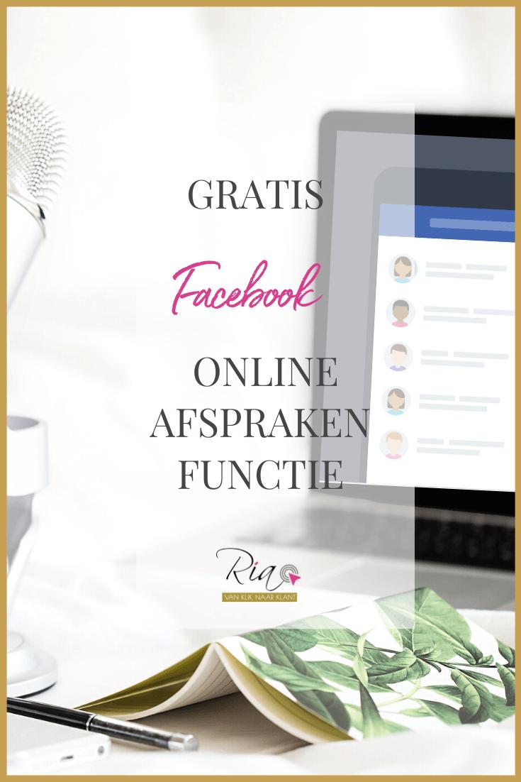Pinterest - GRATIS Facebook Online Afspraken functie (online agenda)