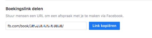 Facebook Afspraken Boekingslink