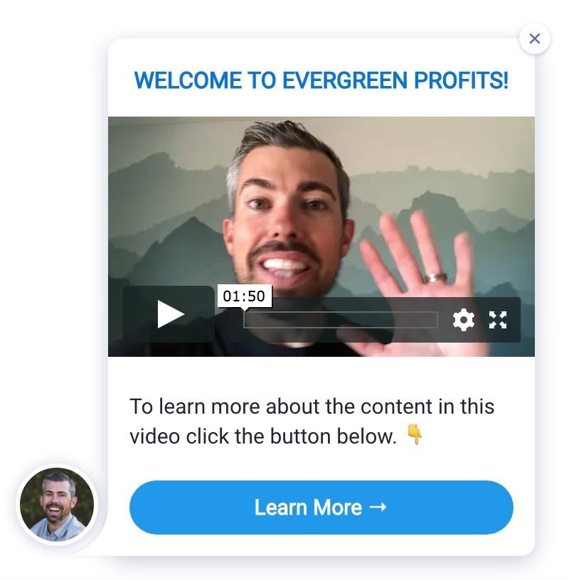 Convertbox een welkom slide-in
