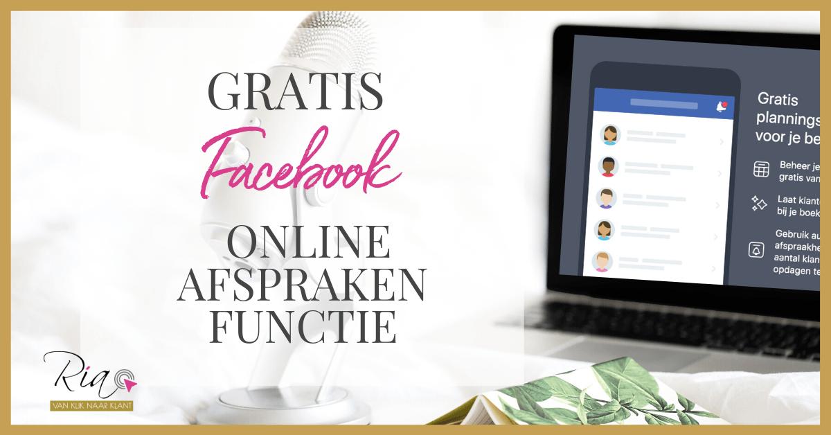 Gratis Facebook online afspraken functie