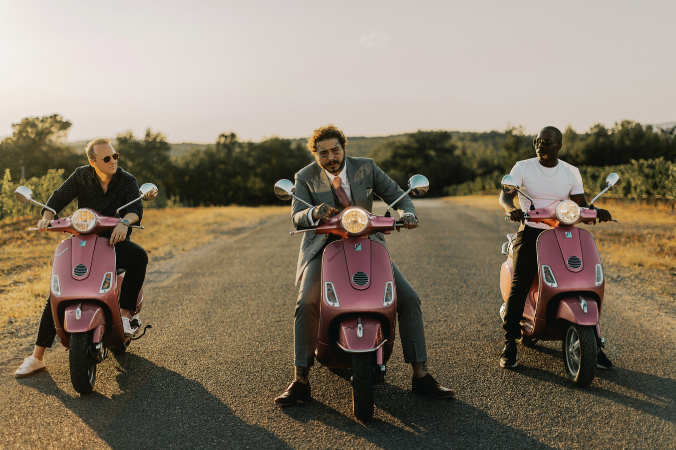 Post Malone, James Morrissey y Dre London.