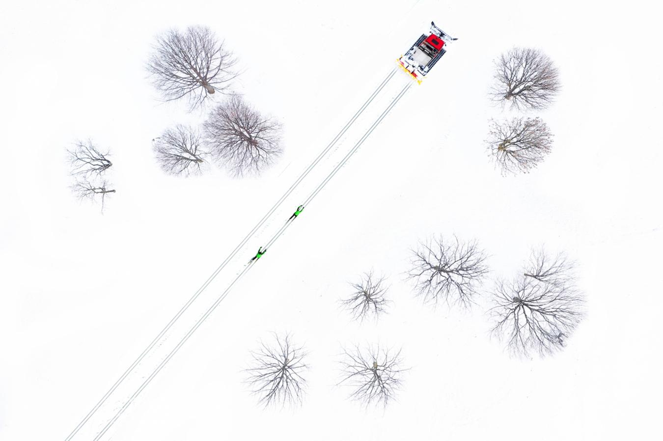 Fotos dron nieve
