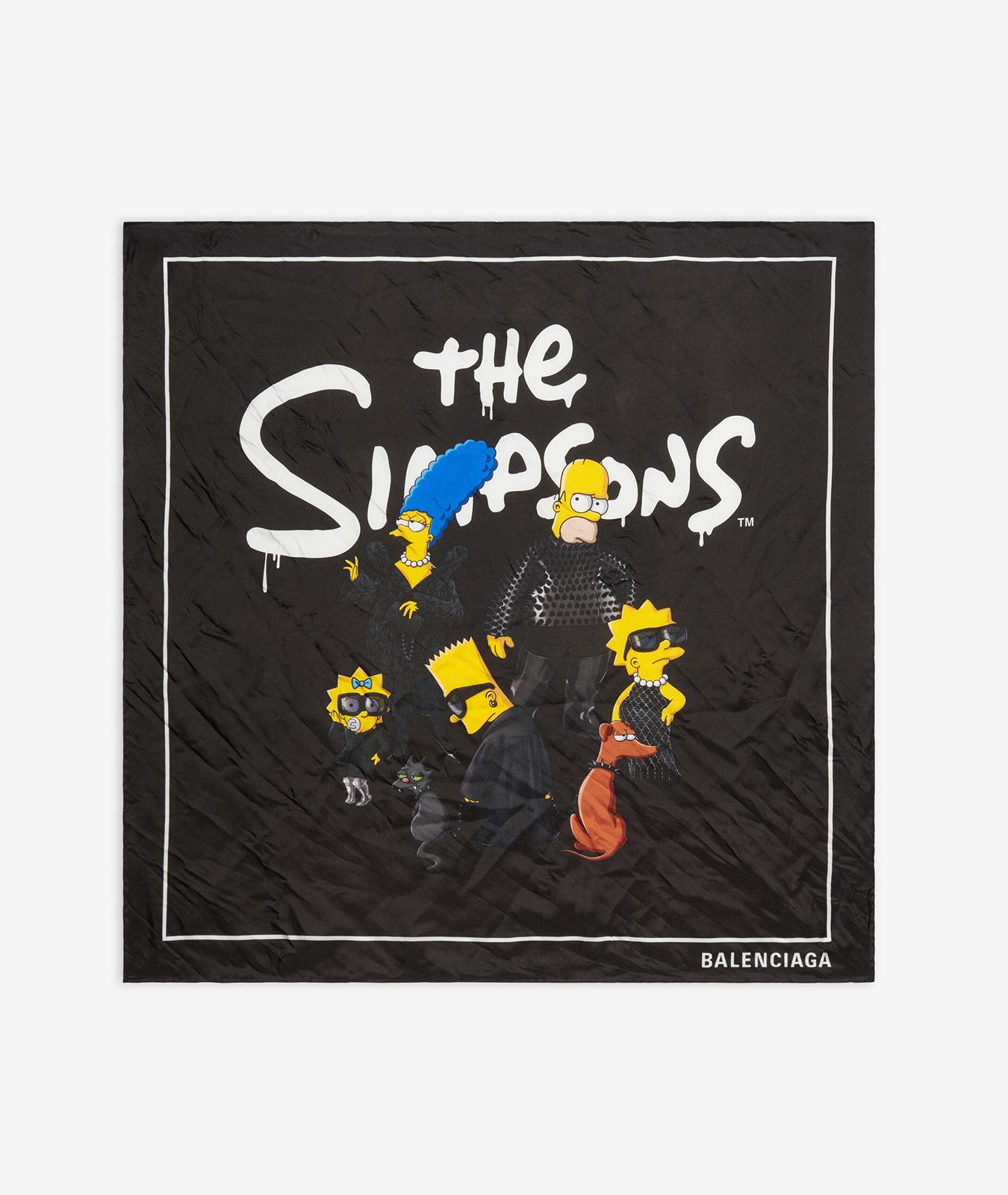 Bufanda de Balenciaga x Los Simpson